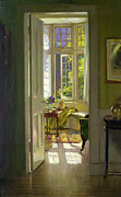 Looking Out Side Framed Prints -  Interior Morning  Framed Print by Patrick Williams Adam