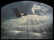 Eagle Painting Originals -  Into the Light I by Mark Mittlesteadt