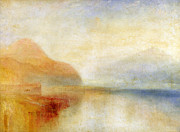 Exterior Painting Prints -  Inverary Pier - Loch Fyne - Morning Print by Joseph Mallord William Turner