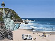 Statue Of Liberty Metal Prints -  Its a Question of Simian Survival Metal Print by Scott Listfield