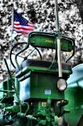 House Digital Art Originals -  John Deere American Tractor by Ben Michalski
