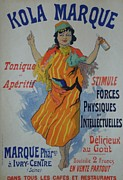 Belle Epoque Originals -  Kola Marque Original Vintage French Poster by Cheret Jules
