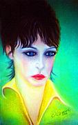 Celebrity Pastels Framed Prints -  Lady Gaze Framed Print by Liam O Conaire