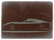Italian Classic Cars Prints -  Lamborghini Miura Print by Irina  March
