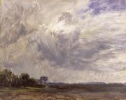 With Photos -  Landscape with Grey Windy Sky by John Constable