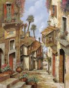 Vintage Painting Originals -  Le Palme Sul Tetto by Guido Borelli