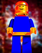 Science Fiction Posters -  Lego Spaceman Poster by Bob Orsillo