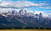 Skys Prints -  Light on the Grand Tetons Print by David Patterson