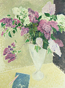Pen Prints -  Lilacs Print by Glyn Warren Philpot