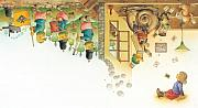 Yellow Drawings Framed Prints -  Lisas Journey11 Framed Print by Kestutis Kasparavicius