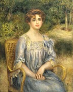 Wicker Chair Prints -  Madame Gaston Bernheim de Villers  Print by Pierre Auguste Renoir