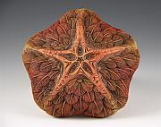 Orange Sculpture Prints -  Makana Ka Na Hoku Print by Jacques Vesery