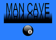 Billard Digital Art -  Man Cave - Reflections by Aaron Chapman