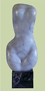 Erotic Sculptures -  Marble Torso by Jorge Rene GOMEZ MANZANO