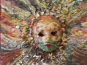 Mardi Gras Mask Dedicated To Linda Lane-bloise  Print by Anne-Elizabeth Whiteway