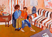 Autistic Prints -  May I Sit on Your Lap Print by Elzbieta Zemaitis