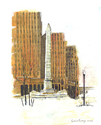 Mckinley Painting Prints -  McKinley Monument Print by John Countway