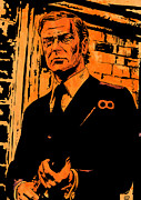 Featured Drawings Prints -  Michael Caine Print by Giuseppe Cristiano