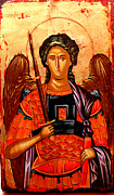 Egg Tempera Prints -  Michael the Archangel Print by Artur Sula
