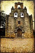 Church Prints -  Mission Espada Print by Iris Greenwell