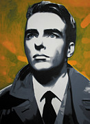 Montgomery Metal Prints - - Montgomery Clift - Metal Print by Luis Ludzska