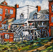Canadian Artist Painter Painting Originals -  Montreal Griffintown Urban Scene Les Miserables by Prankearts by Richard T Pranke