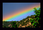 Santa Fe National Forest Framed Prints -  Mountain Rainbow Framed Print by Susanne Still