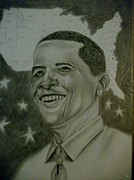 President Obama Drawings Framed Prints -  Mr. President  Framed Print by Handy