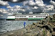 Sound Digital Art -  Mukilteo ferry by DMSprouse Art