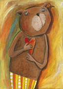 Hearty Prints -  my dear Bear Print by Sonja Mengkowski