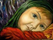 Protest Originals -  Neda-child...cries For  Iran by Ricardo Santos-alfonso