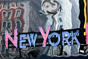 Vintage Style Photograph Posters -  New York Neon Sign Poster by Sophie Vigneault