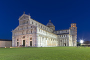 Torre Prints -  Night in Pisa Print by Sebastian Wasek