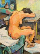 Inexhaustible Framed Prints -   Nude Painting 2 Framed Print by Alfons Niex