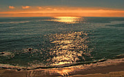 Mesmerizing Sunset Color Metal Prints -  Ocean Sunset Dream Metal Print by Debra     Vatalaro