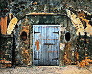 Puerto Rico Framed Prints -  Old Wooden Doors Framed Print by Perry Webster