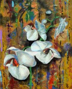 Umber Metal Prints -  Orchid YO Metal Print by Laura Pierre-Louis