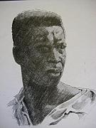 African-american Drawings -  Photograph of K. C. by Dalushaka Mugwana