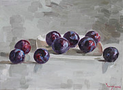 Plums Print by Ylli Haruni