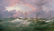 Storm Painting Posters -  Portrait of the lsis a Steam and Sail Ship Poster by Samuel Walters