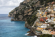 Sea Shore Prints -  Positano Coastline Campania Italy  Print by George Oze