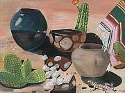 Pottery Paintings -  Pottery in the Desert by Aleta Parks