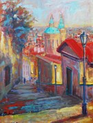 Prague Castle Paintings -  Prague by Margaret  Plumb