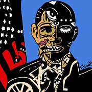 Kamonikhem Prints -  President Barack-Obama full color Print by Kamoni Khem