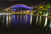 Puerto Rico Framed Prints -  Puerto Rico Convention Center at Night Framed Print by George Oze
