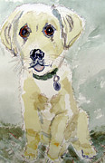 Dog Paw Paintings -  Puppy Charley by Barbara Pearston