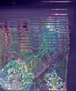 Purple Linear Abstraction Print by Anne-Elizabeth Whiteway
