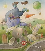 Sky Drawings Originals -  Rabbit Marcus the Great 05 by Kestutis Kasparavicius