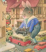 Rabbit Drawings -  Rabbit Marcus the Great 18 by Kestutis Kasparavicius