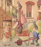 Rabbit Drawings -  Rabbit Marcus the Great 27 by Kestutis Kasparavicius